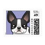 Cartoon French Bulldog Stamps