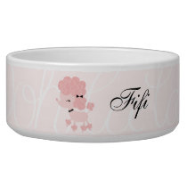 Cartoon French Poodle Bowl