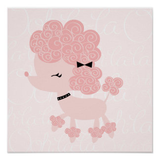 Cartoon French Poodle Children s Wall Art Posters