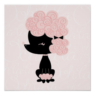 Cartoon French Poodle Children s Wall Art Print
