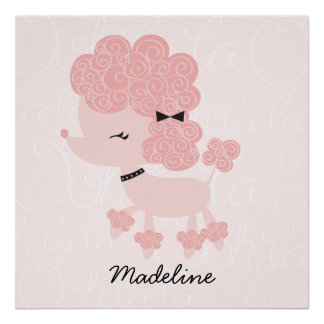 Cartoon French Poodle Children's Wall Art