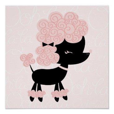 heartlocked Cartoon French Poodle Children's Wall Art