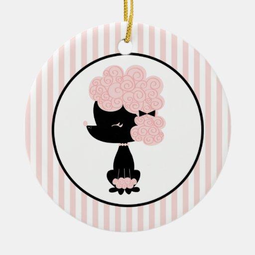 Cartoon French Poodle Custom Ornaments