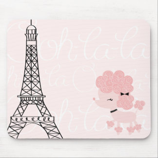 Cartoon French Poodle Mouse Pad