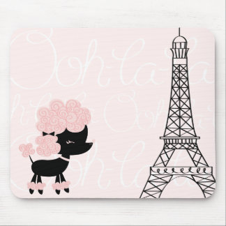 Cartoon French Poodle Mouse Pads