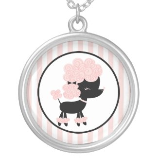 Cartoon French Poodle necklace