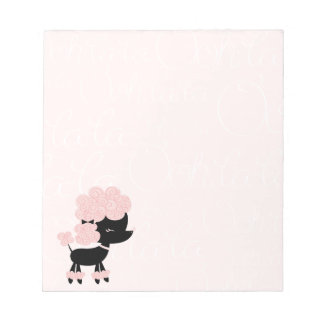 Cartoon French Poodle Note Pad