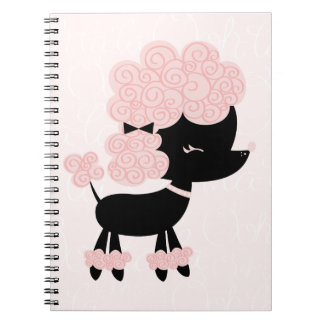 Cartoon French Poodle Notebook