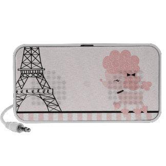 Cartoon French Poodle Travel Speaker