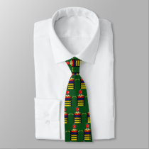 cartoon frog and books tie