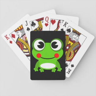 Cartoon Frog background Playing Cards