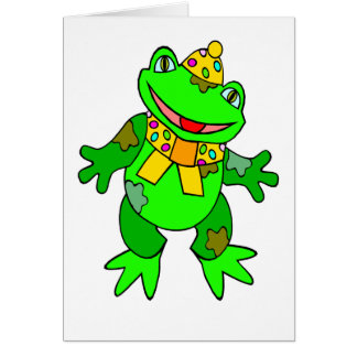 Cartoon Frog Birthday Card