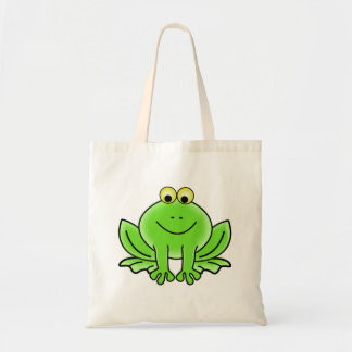 Cartoon Frog Budget Tote Bag