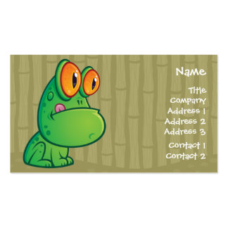 Cartoon Frog Business Crad Business Card Template