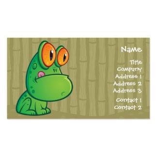 Cartoon Frog Business Crad Business Card Template