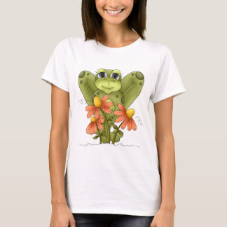 Cartoon Frog cute womens t-shirt