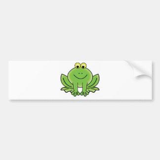 cartoon frog fun art bumper sticker