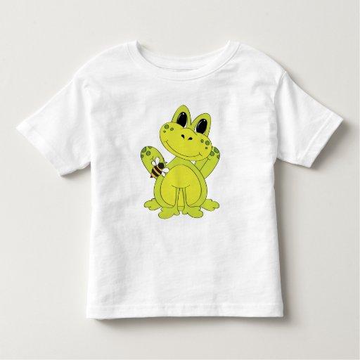 Cartoon Frog fun toddler t-shirt