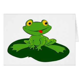 Cartoon Frog Greeting Card