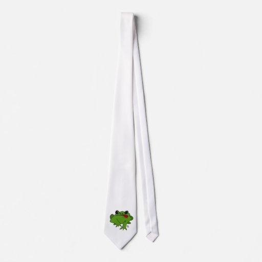 Cartoon Frog on Neck Tie