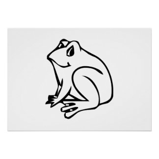 Cartoon Frog Poster