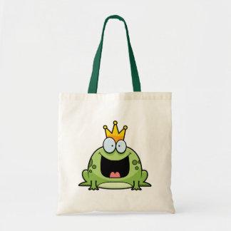 Cartoon Frog Prince Tote Bag