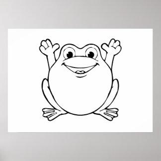 Cartoon Frog Print