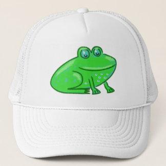 Cartoon Frog Trucker Hat