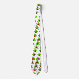 Cartoon Frog with Kiss and Love Heart Tie