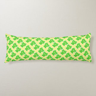 Cartoon Frogs Pattern Green And Yellow Body Pillow