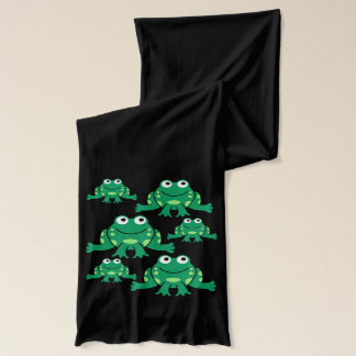Cartoon Frogs Scarf