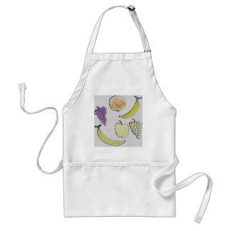 cartoon fruit adult apron