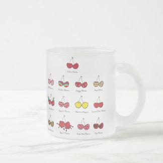 Cartoon Fun Comic Funny Cheeky Red Cherries Cherry Frosted Glass Coffee Mug
