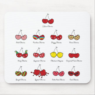 Cartoon Fun Comic Funny Cheeky Red Cherries Cherry Mouse Pad