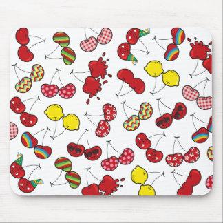 Cartoon Fun Comic Funny Cheeky Red Cherries Cherry Mouse Pad