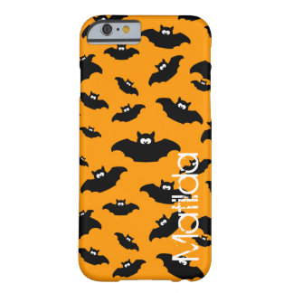 cartoon funny bat with name barely there iPhone 6 case