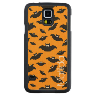 cartoon funny bat with name carved maple galaxy s5 slim case