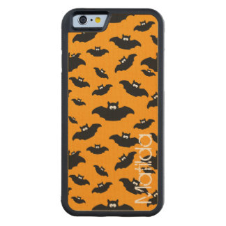 cartoon funny bat with name carved maple iPhone 6 bumper case