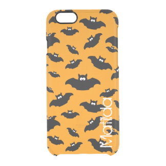cartoon funny bat with name clear iPhone 6/6S case