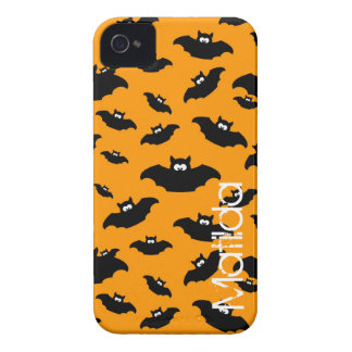 cartoon funny bat with name iPhone 4 Case-Mate case