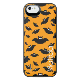 cartoon funny bat with name iPhone SE/5/5s battery case