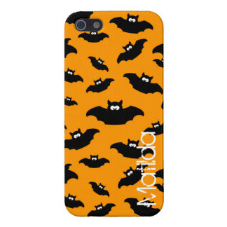 cartoon funny bat with name iPhone SE/5/5s case