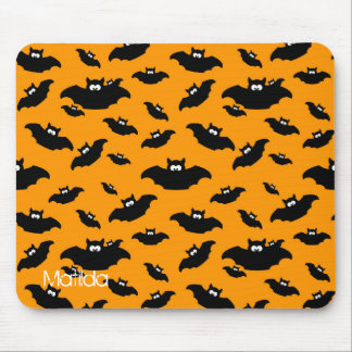 cartoon funny bat with name mouse pad