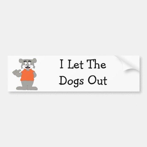 Cartoon Funny Dog Bumper Sticker