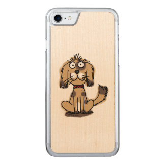 cartoon funny dog carved iPhone 7 case