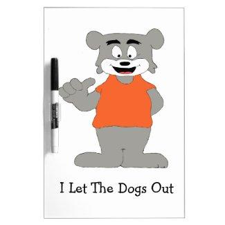 Cartoon Funny Dog Dry Erase Board