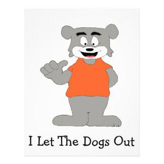 Cartoon Funny Dog Letterhead Template