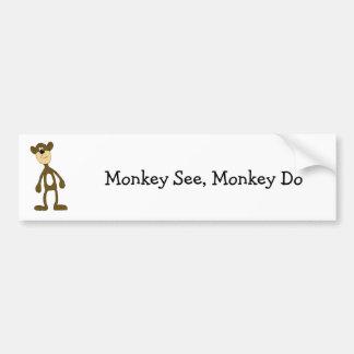 Cartoon Gang Monkey Bumper Sticker