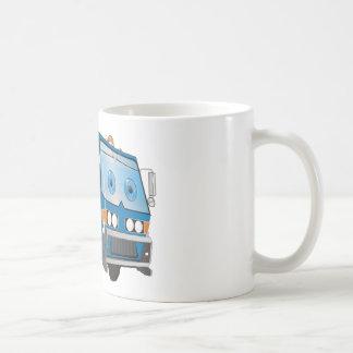 Cartoon Garbage Truck Blue Coffee Mug