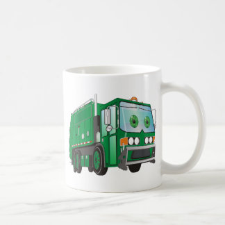 Cartoon Garbage Truck Green Coffee Mug
